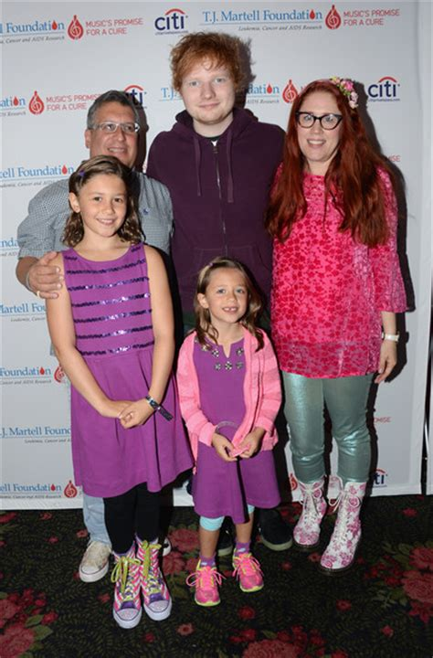 ed sheeran family ed sheeran in quot t j martell foundation s 14th annual