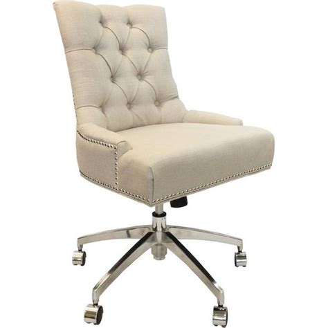 tufted upholstered desk chair dot bo bancroft tufted office chair 450 liked on