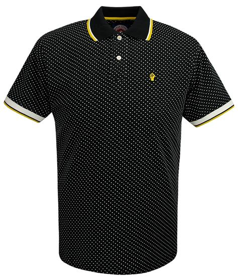 Sale Tshirt Collar Combi Square wigan casino black dobby squares polo t shirt modfellas