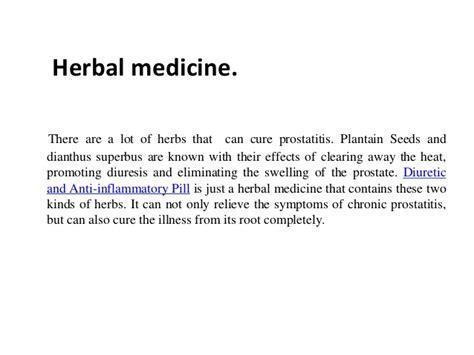 treat prostatitis