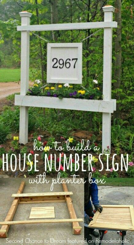 house numbers sign house numbers diy house number sign