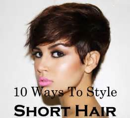 how to style hair that is shorter in the back than the front ten quick and easy ways to style short hair