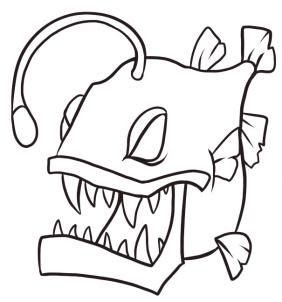 angler fish sharp teeth coloring pages angler fish sharp how to draw an anglerfish step by step fish animals
