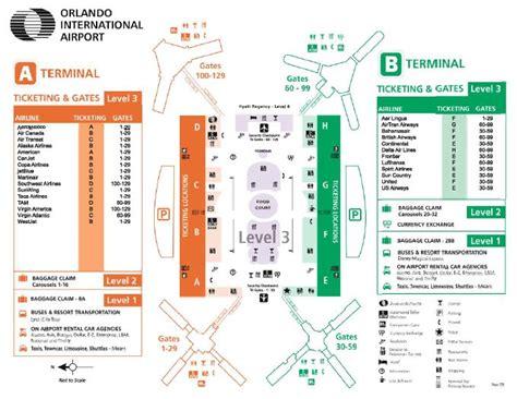 mco map detailed orlando florida airport map mco including