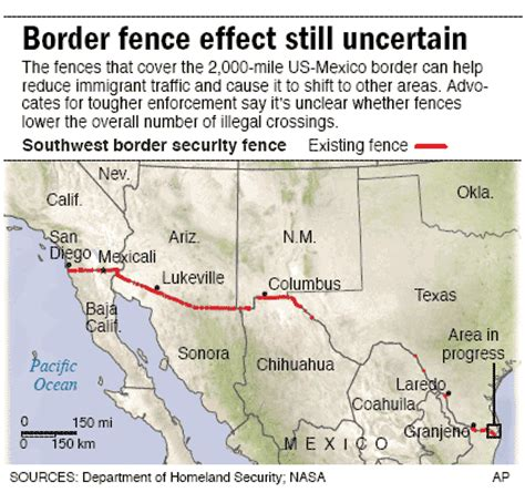 us mexico border wall map the border is now secure as the fence is complete