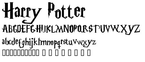 harry potter fonts harry potter font fancy decorative category pickafont com