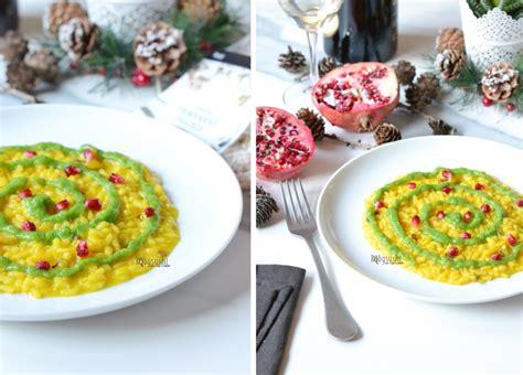 Toar And Roby Acqua Deluxe risotto ai funghi con zafferano crema di broccolo e melagrana