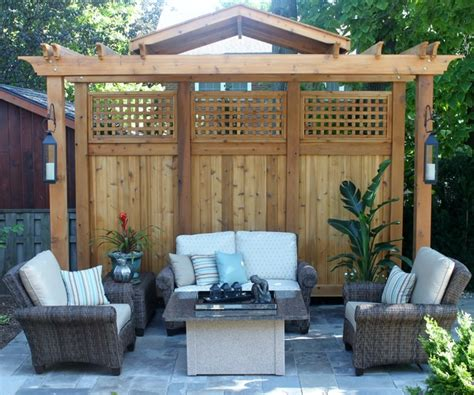 Pergola Privacy Screens Pergola Privacy Screen Contemporary Landscape