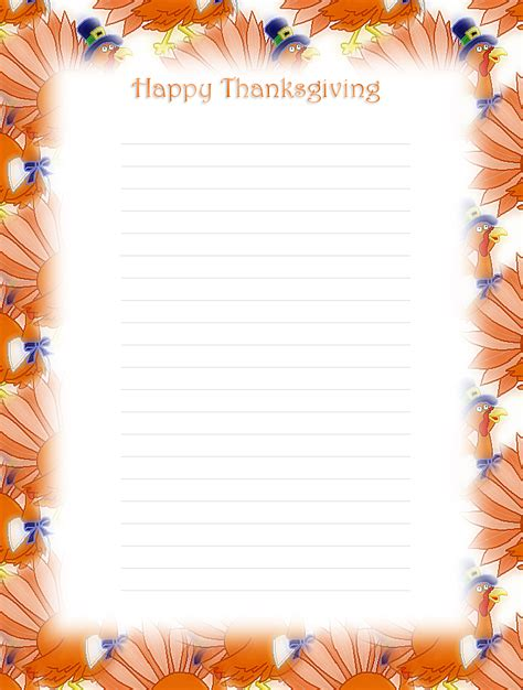 lined paper with money border 6 best images of thanksgiving free printable lined