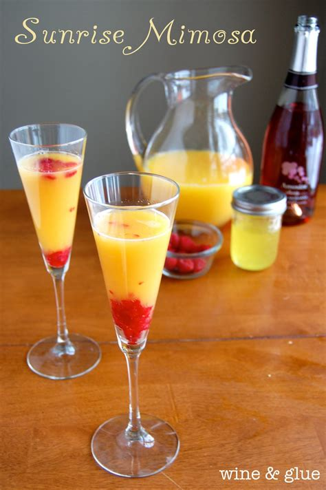 sunrise mimosa wine glue