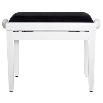 piano bench white stagg pb40 white polished deluxe piano bench keymusic