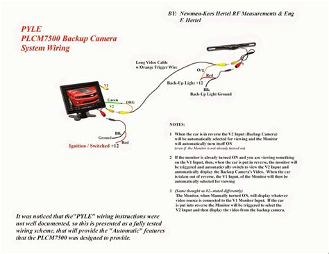 backup camera wiring schematic  wiring diagram