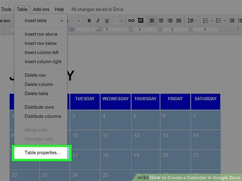 how to make a calendar in docs the 2 best ways to create a calendar in docs wikihow