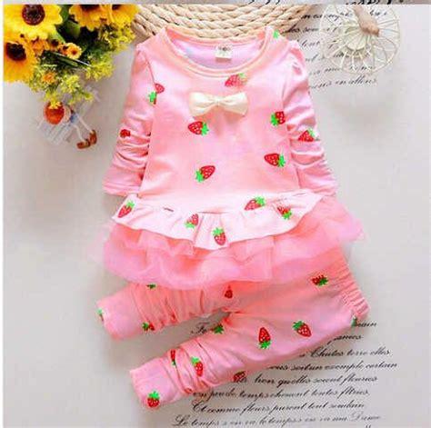 Setelan Baju Anak Perempuan Pink Lucu Cantik 2 4 Thn setelan baju anak perempuan quot strawberry quot cantik murah
