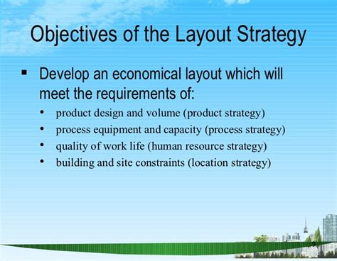 objective of layout strategy is to layout strategy ppt bec doms