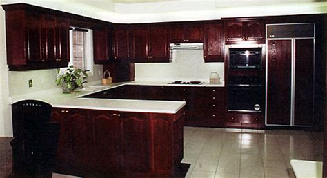 Award Kitchen Refacers   A dark stained wood kitchen can