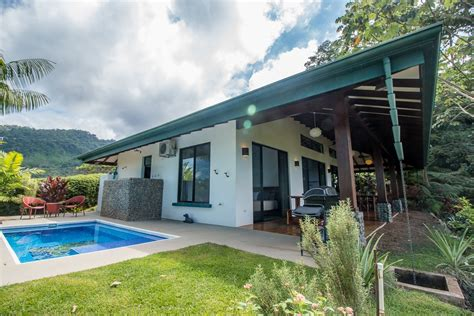 comfortable single level view home in uvita with pool