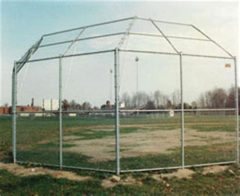 backyard dugout aluminized vinyl coated baseball backstop fencing