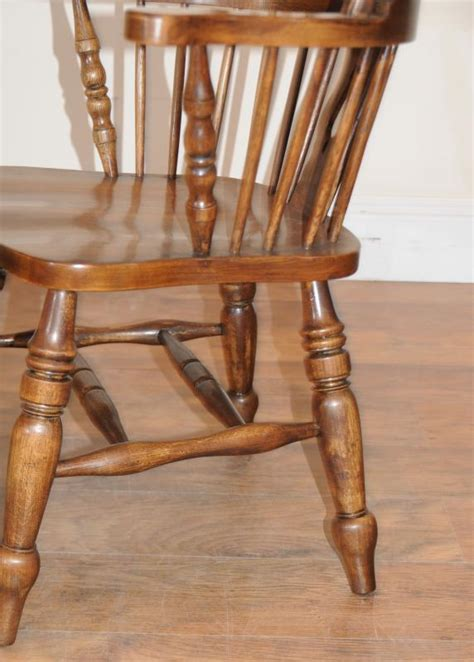 Kitchen Table Chairs With Arms by Farmhouse Refectory Table Set Arm Chairs Kitchen