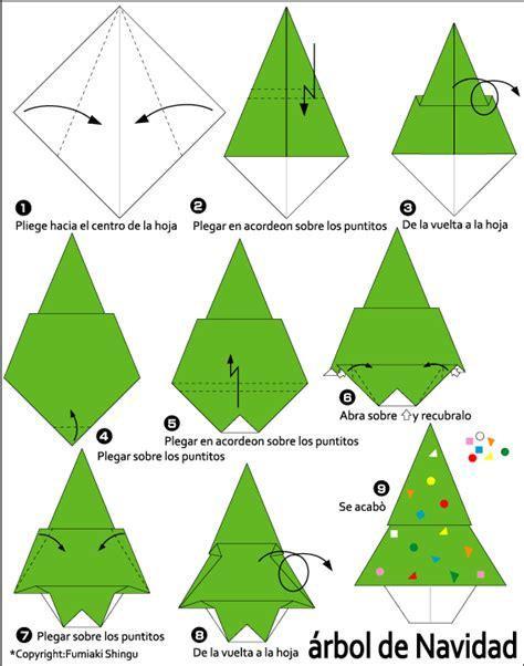 origami 225 rbol de navidad