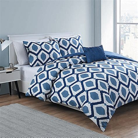 vcny santa fe 4 piece reversible comforter set bed bath