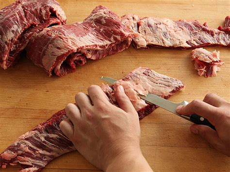 knife skills how to trim skirt steaks serious eats