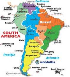 south america landforms map countries
