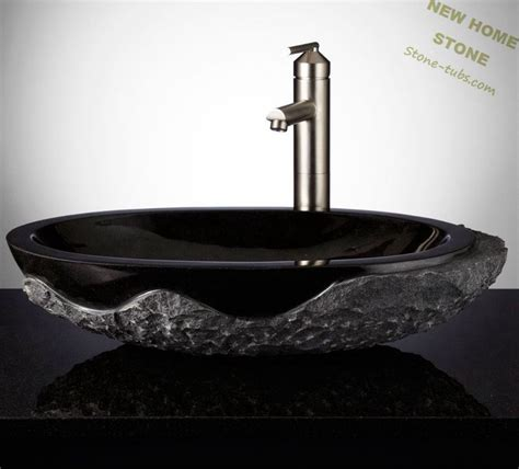Design For Granite Vessel Sink Ideas Black Granite Sinks Outside And Polished Inside Oval Vessel Wash Basin Luxury Design