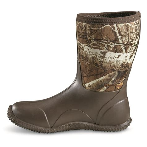 Womens Camo Rubber Boots by Guide Gear S Mid Camo Bogger Rubber Boots 648779