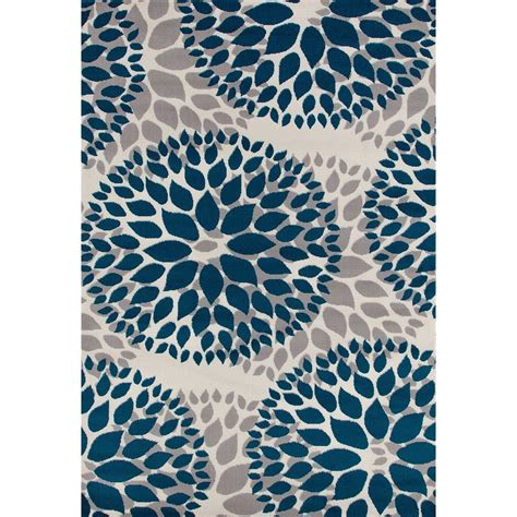 World Rug Gallery Modern Floral Design Blue 7 Ft 6 In X Modern Rug Designs