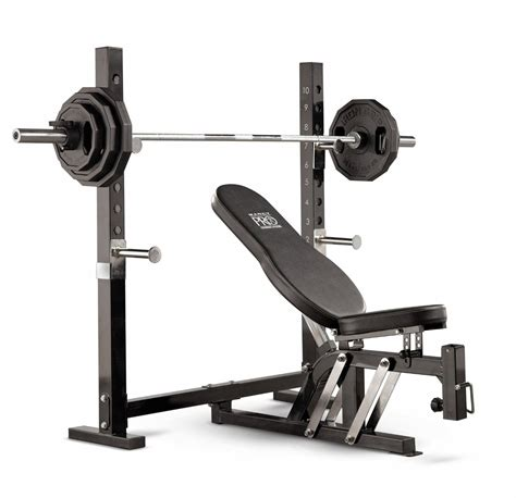 bench with weights marcy pro olympic bench review