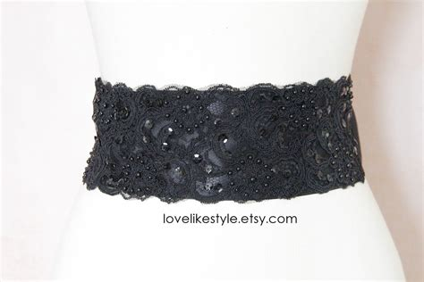 black beaded sash belt black beaded alencon lace sash belt bridal sash bridesmaid
