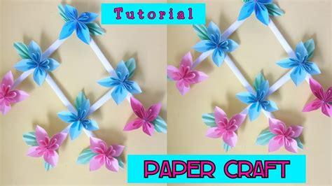 tutorial membuat hiasan dinding dari kertas paper craft