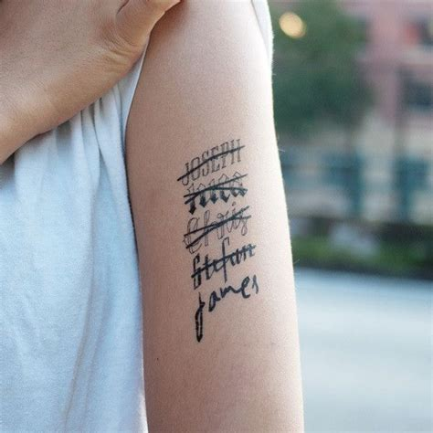name tattoo temporary hand drawn temporary tattoo by tattly also available in