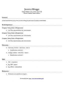 Simple Cv Template Word by Simple Cv Template Collection Clean Cv Templates In Word