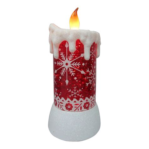 christmas led candle lowes living 7 5 in snowflake led candle decoration lowe s canada