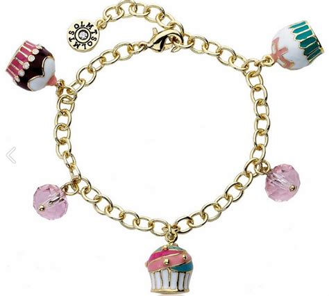 bitz of glitz charming cupcake charm bracelet