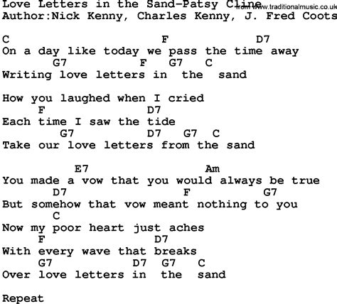 Letter In The Sand Lyrics Letters Lyrics Levelings