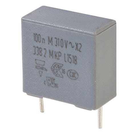 x2 series capacitor vishay bfc2 338 20104 100n 338 series x2 suppression capacitor rapid rapid