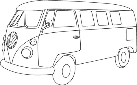Coloriage Les Transports Voitures 2 224 Colorier Allofamille Vw Coloring Page