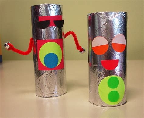 robot craft for robot craft this week we made robots toilet paper rolls