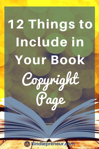 Ironclad Book Copyright Page Exles That Will Protect You Best Of Kindlepreneur Blog Self Help Book Template