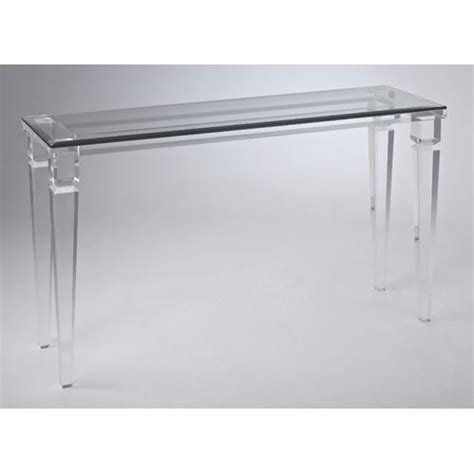 Plastic Console Table Lucite Clear Table Waterfall Acrylic Console