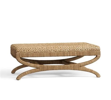 seagrass bench pottery barn 17 best ideas about upholstered coffee tables on pinterest