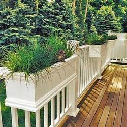 25 best ideas about deck railing planters on