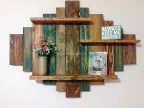Shelf Made From Pallet by Best 20 Pallet Shelves Ideas On Pallet