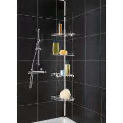 Bathroom Shower Shelves Metal Corner Shower Bathroom Basket Caddy Shelf Telescopic Storage Shelves Tier