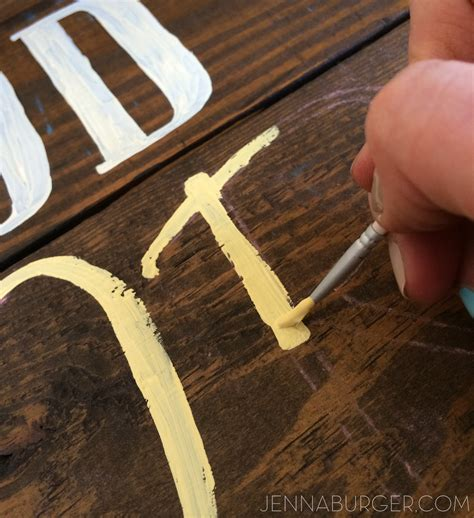 diy chalk paint on wood diy painted wood sign using chalk transfer