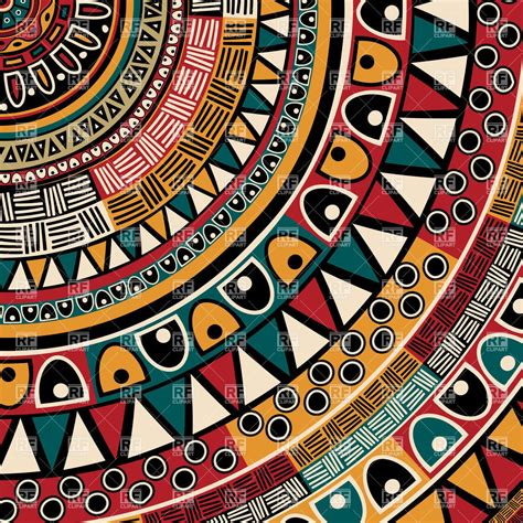 tribal pattern download round tribal ethnic ornament patchwork pattern download