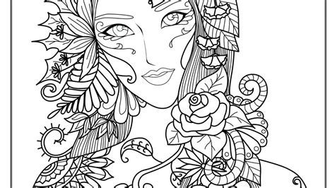 complicated coloring pages for adults andrew bernhardt s coloring pages for adults difficult fairies 03 pictures